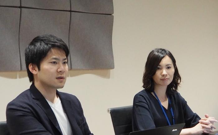 経営管理グループ 工藤長人氏(左)と佐野なおみ氏(右)