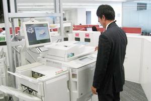 複合機使用には個人認証が必要でセキュリティを確保