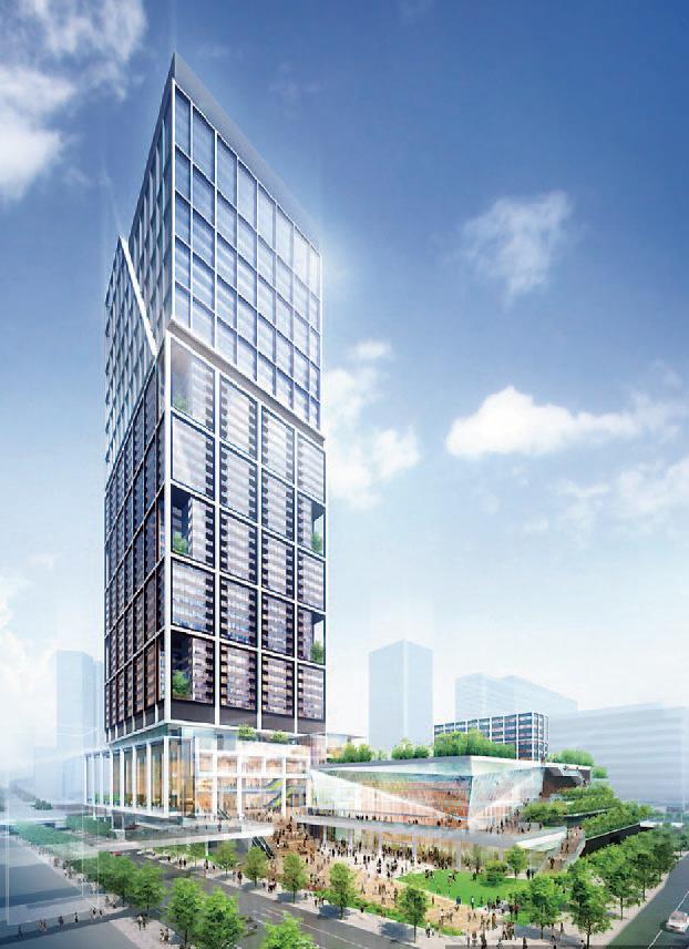NAKANOサンプラザとシンボルタワーの外観完成イメージ