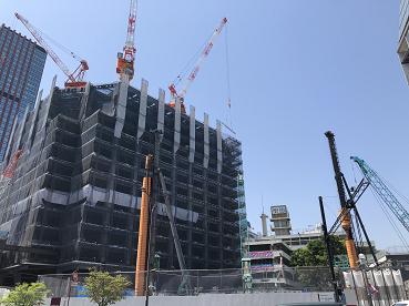 三田3・4丁目地区の再開発工事現場